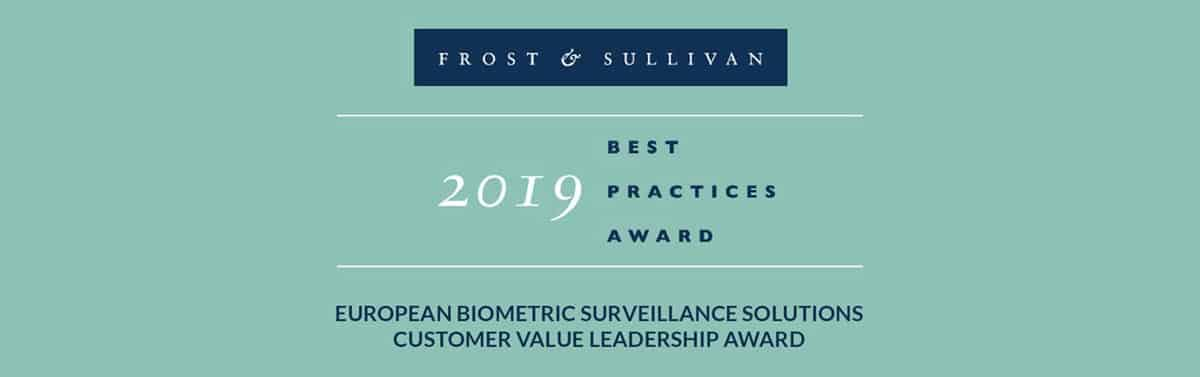 Herta Security receives Europe Customer Value Leadership Award from Frost & Sullivan for biometrics excellence
