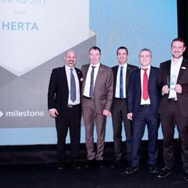 Herta awarded as Milestone Solution Partner of the Year 2017